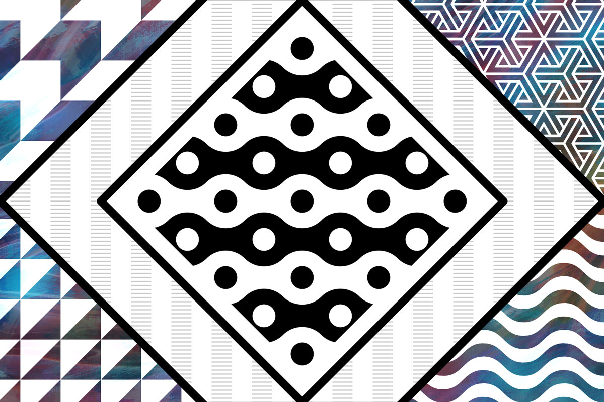 A collage of geometric and minimalistic seemless patterns