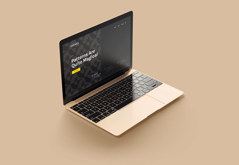 Subtle website pattern displayed on laptop