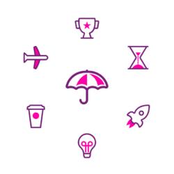 demonstration of 13 splash icons